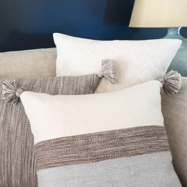 Heather Gray Alpaca Wool Pillow - Image 3 of 3