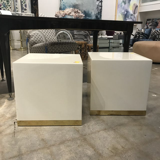 Metal French Lacquered Drink Tables - a Pair For Sale - Image 7 of 7