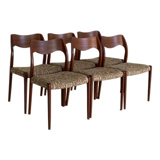 Danish Teak J L Moller Dining Chairs - Set of 6 For Sale