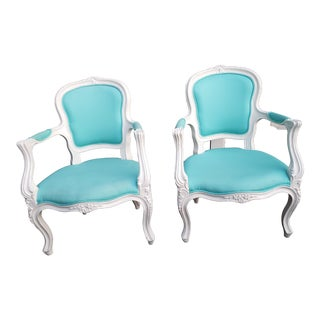 Pottery Barn Ooh La La Armchairs - A Pair For Sale
