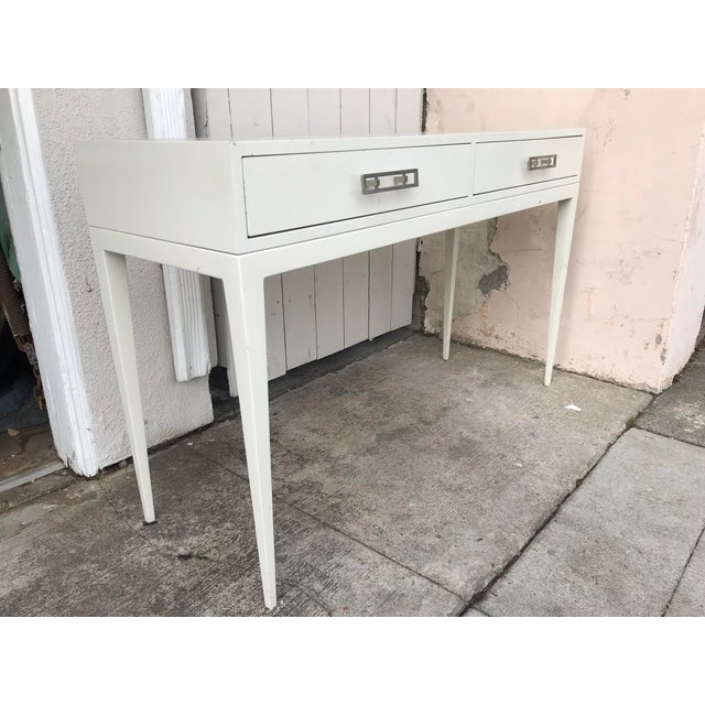 """Late 20th Century """"Kelly"""" White Lacquered Console For Sale - Image 5 of 5"""