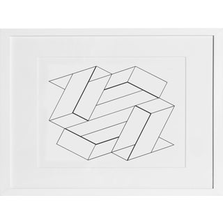 Josef Albers - Portfolio 2, Folder 21, Image 1 Framed Silkscreen For Sale