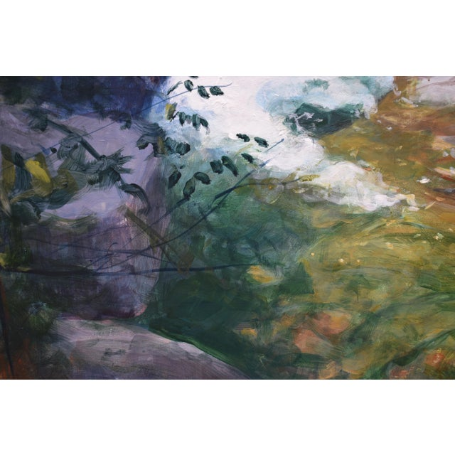 """Stephen Remick Stephen Remick """"Vermont Waterfall, Warren Falls"""" Contemporary Painting For Sale - Image 4 of 11"""