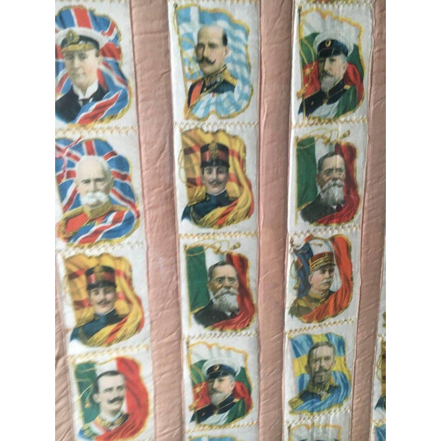 Imperial Tobacco Company of Canada Silk Trading Cards Quilt Mounted on Canvas For Sale - Image 4 of 6