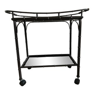 Toile Painted Metal Bar Cart