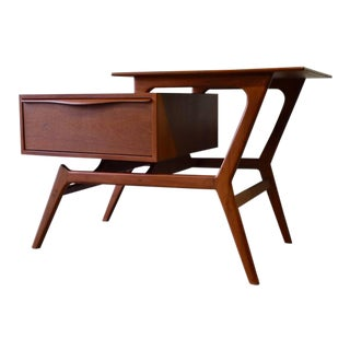 Mid Century Modern Two Tier Entryway Cabinet / End Table For Sale