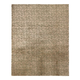 Hand-Knotted European Style Rug Green and Beige Brown Floral Pattern by Rug & Kilim For Sale