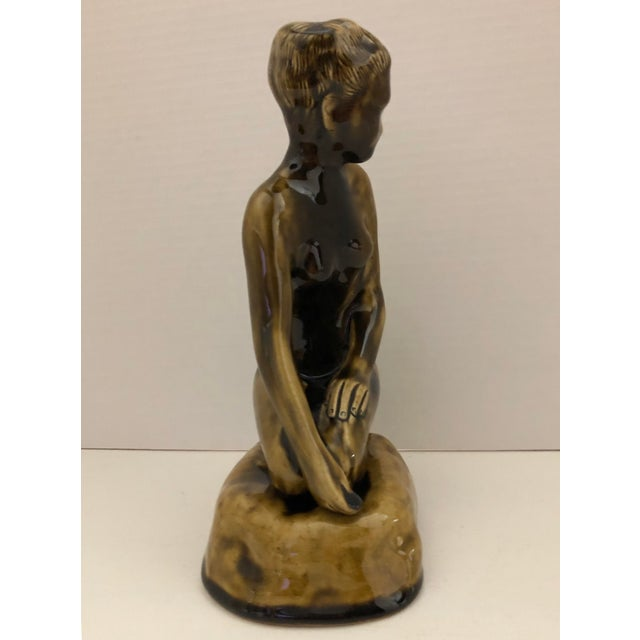 1970's Female Nude Ceramic Sculpture on Base by Thai Celadon For Sale - Image 4 of 12