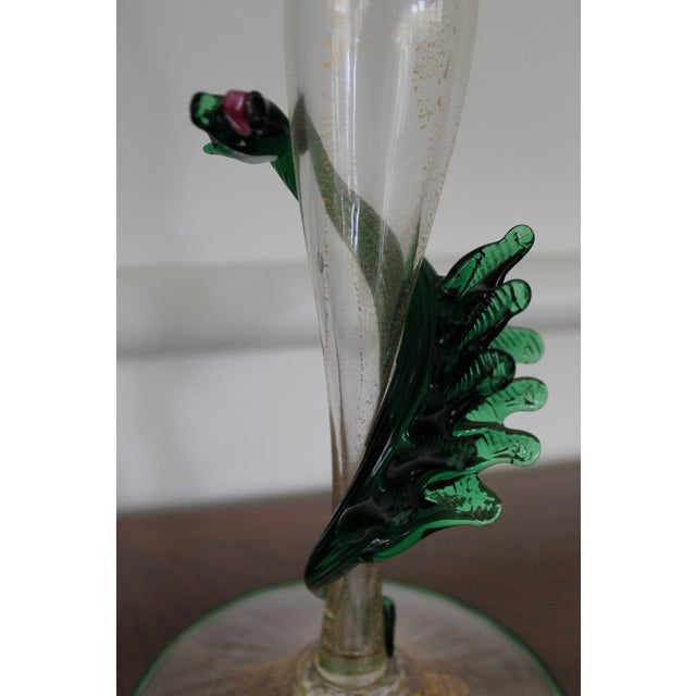1980s Unique Pair of Dragon Form Murano Candle Holders For Sale - Image 5 of 9