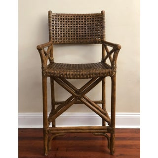 1950s Vintage Antalya Style McGuire Laced Rawhide Bar Stool Preview