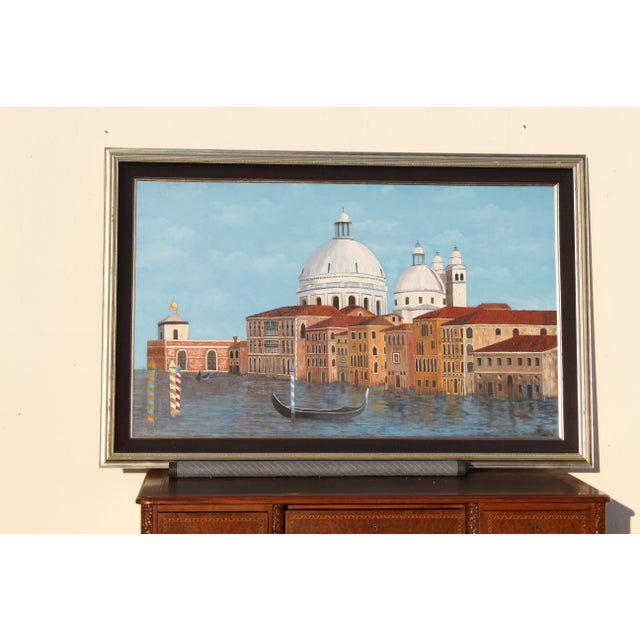 Venetian Canal Art Painting For Sale - Image 9 of 12