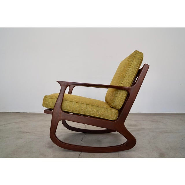 Selig Danish Modern Ib Kofod Larsen Rocking Chair For Sale - Image 4 of 13