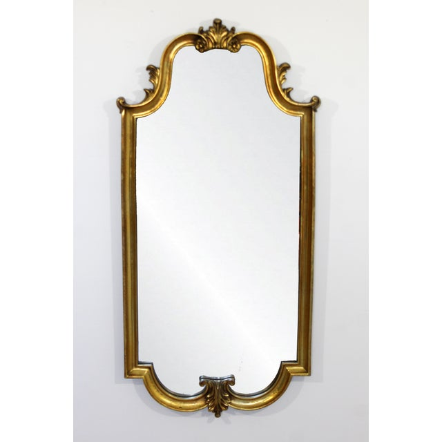 Gold Mid Century Modern Large Hollywood Regency Gold Gilt Wall Mirror La Barge Style For Sale - Image 8 of 8