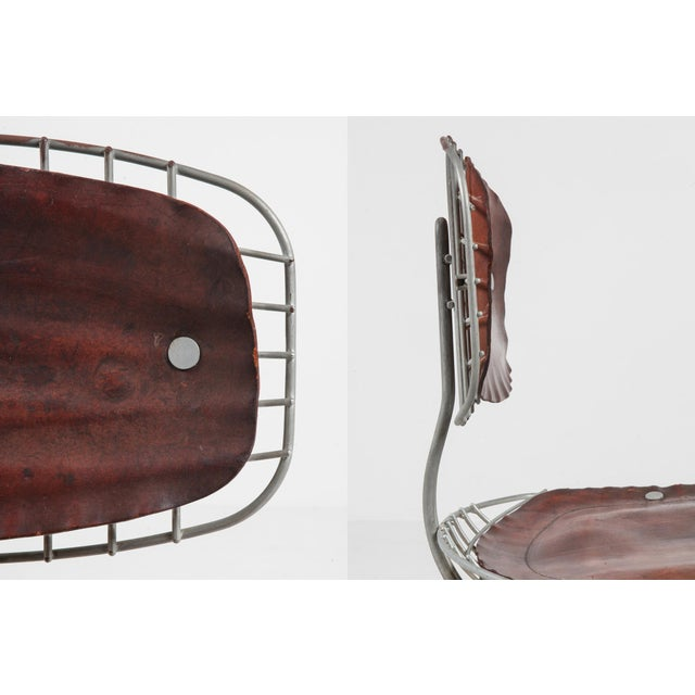 Brown Centre Pompidou Beauburg Chairs Selected by Jean Prouvé For Sale - Image 8 of 12