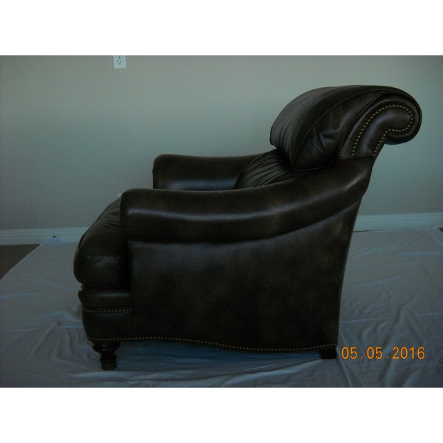 Custom Leather Chairs by Hancock & Moore - A Pair - Image 4 of 10