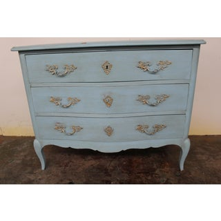 20th Century Vintage Painted Blue Commode Preview