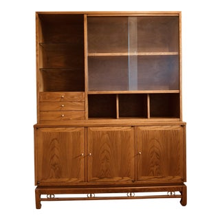 American of Martinsville Walnut China Cabinet For Sale