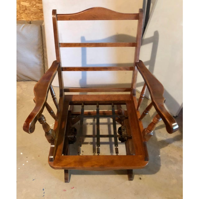 Mid-Century Modern Rocking Chair For Sale In South Bend - Image 6 of 8