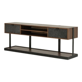 Erdos + Ko Home Urban Dry Walnut Media Console For Sale