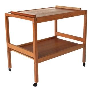 Mid Century Danish Teak Bar Cart For Sale