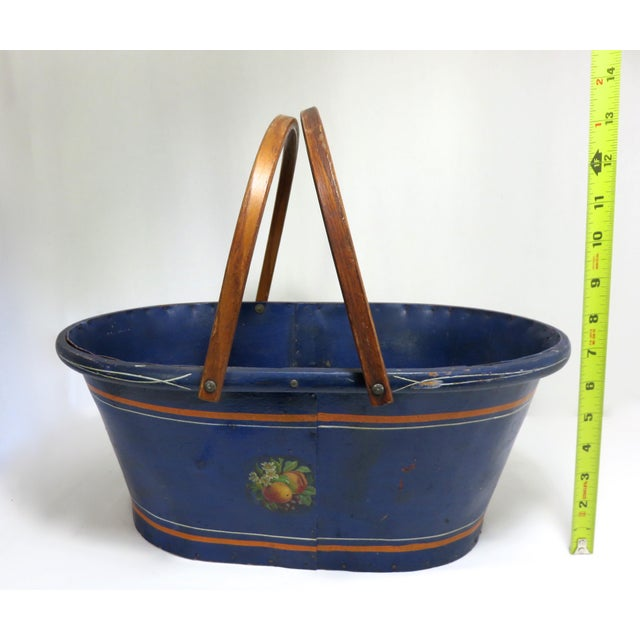 1890s Antique Grocery Shopping Carry Basket For Sale - Image 10 of 13