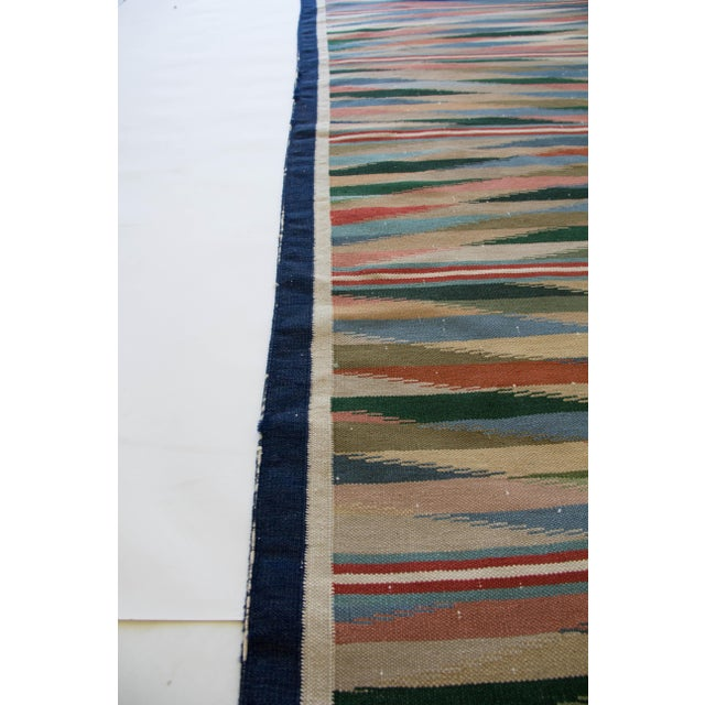 "Multicolor Dhurrie Area Rug - 6' X 8'6"" - Image 4 of 7"