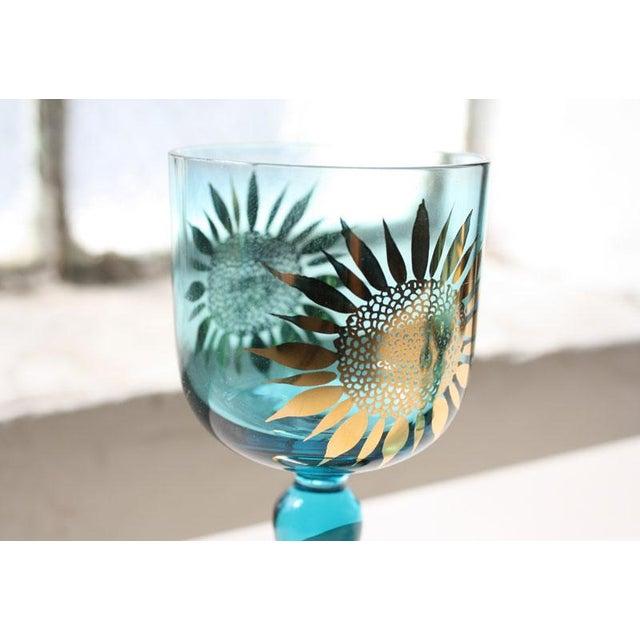 Vintage Sunflower Glasses - Set of 4 - Image 7 of 8