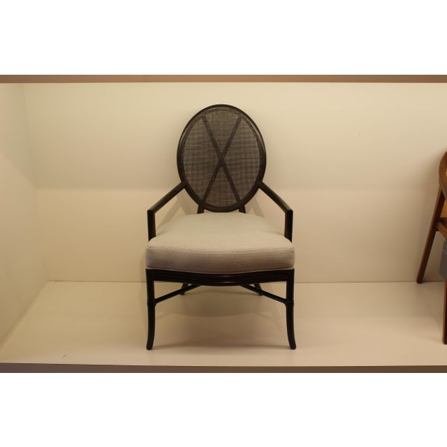 McGuire Barbara Barry Oval X Back Chair - Image 2 of 6
