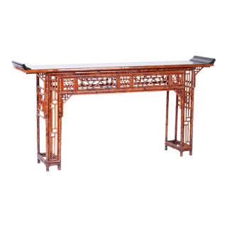 Bamboo Console Table For Sale