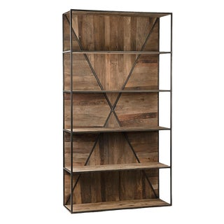 Industrial Barn Wood X Shelf