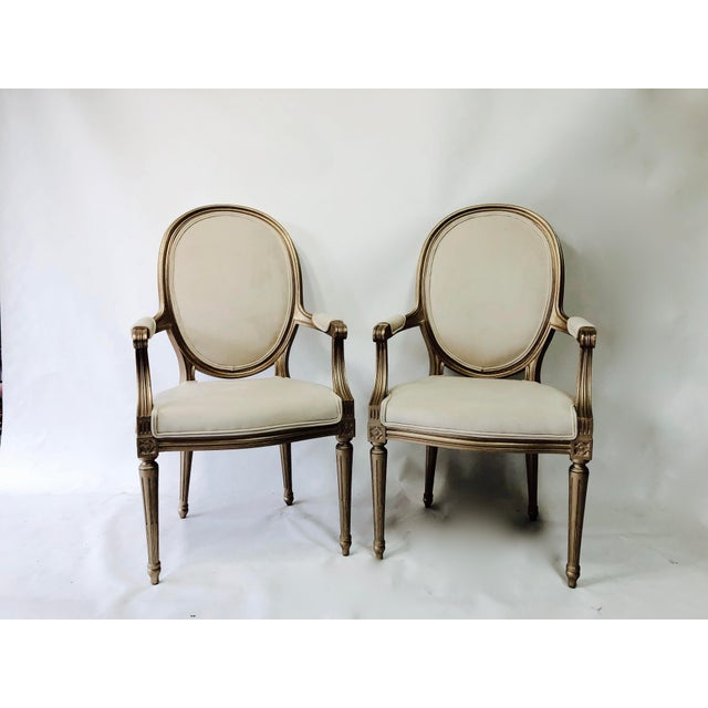1960s 19th Century Vintage Painted Chairs - a Pair For Sale - Image 5 of 6