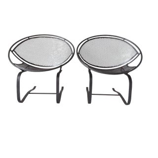 Salterini Iron Hoop Patio Springer Lounge Chairs- a Pair For Sale