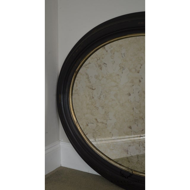 Glass Roma Large Oval Frame Italian Wall Mirror For Sale - Image 7 of 13