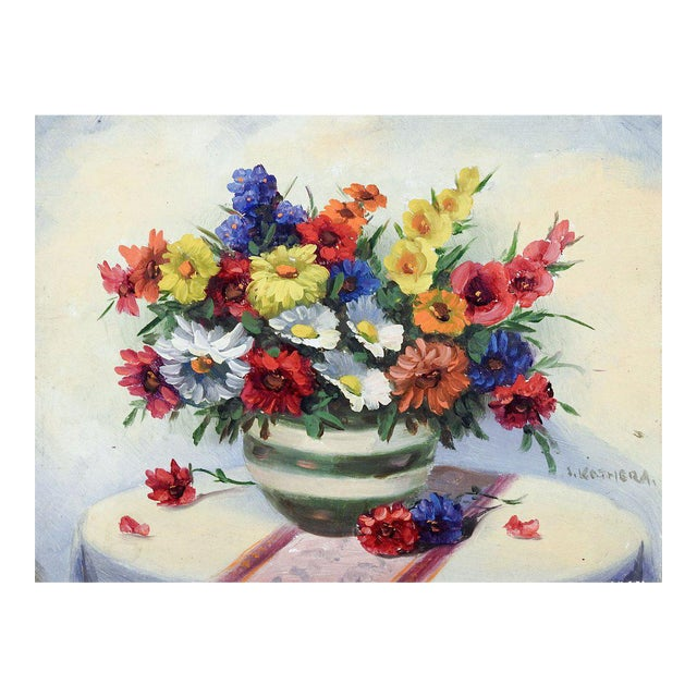 Wild Flower Still Life Painting For Sale