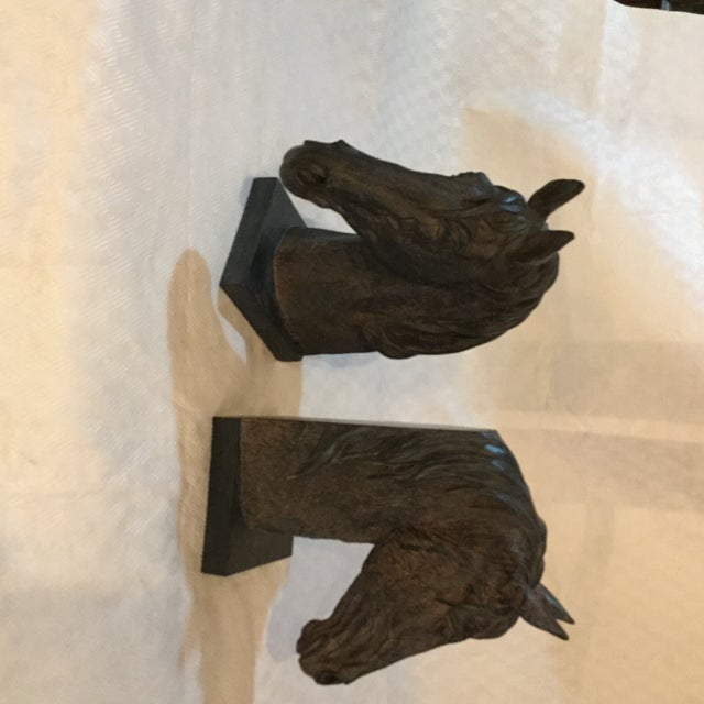 Horse Head Bookends - A Pair - Image 2 of 4