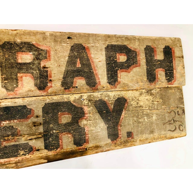 Late 1800s Photography Trade Sign For Sale - Image 9 of 10