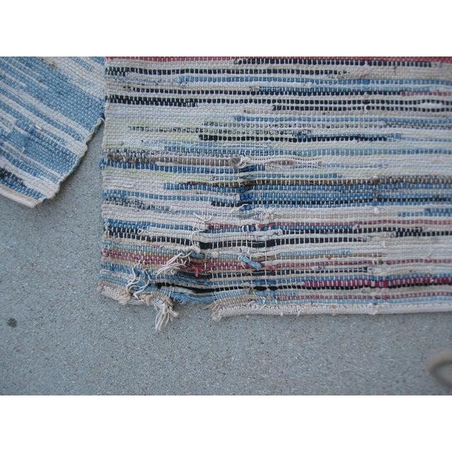 Americana Rag Rug Runner - 2′8″ × 10′4″ - Image 6 of 8