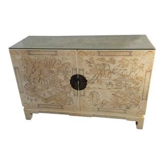 Asian Modern John Widdicomb Cabinet For Sale