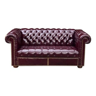 1970s Leathercraft Inc. Leather Love Seat For Sale