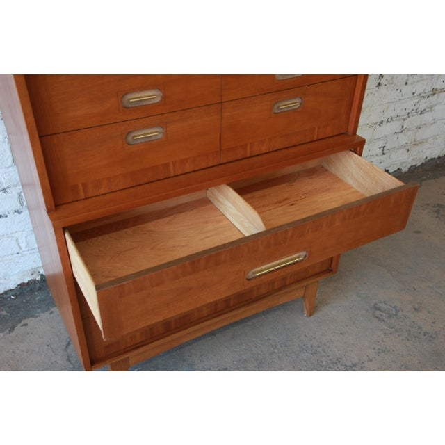 """Kent Coffey """"Focus"""" Mid-Century Modern Highboy Dresser For Sale In South Bend - Image 6 of 9"""