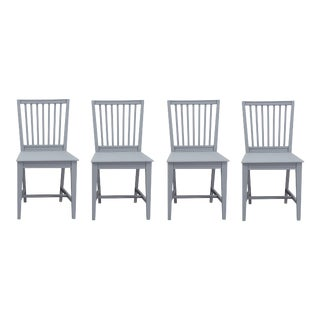 Vintage Swedish Gustavian Leksand Chairs - Set of 4 For Sale