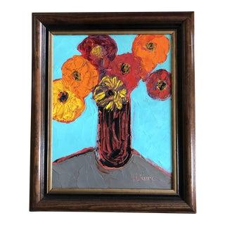 Original Contemporary Alexandra Brown Pop Art Still Life Painting Vintage Frame For Sale