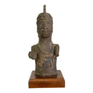 Vintage Bronze Tribal Sculpture For Sale
