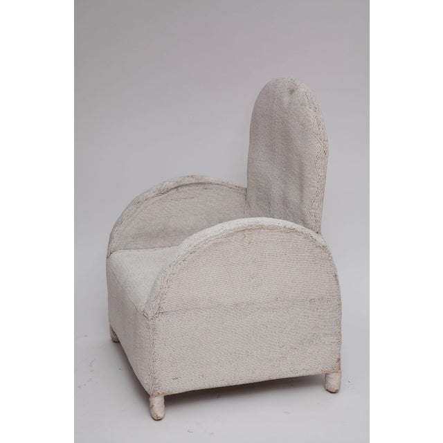 So fresh and modern in white. Traditional African tribal chairs are meticulously crafted in Nigeria from tiny white glass...