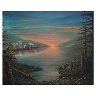 Sunset on the Inlet Painting by Rod Quesada