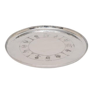 Art Deco 1920-30s Polished Aluminum Tray by Everlast - Earth Air Fire Water For Sale