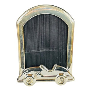 Tiffany & Co Sterling Silver Picture Frame With Car Design For Sale