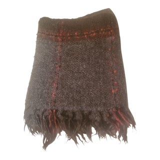 Churchill Weavers Hand Woven Fringed Gray Throw For Sale