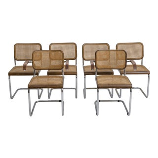 1920's Thonet B32 & B64 Dining Chairs by Marcel Breuer (Set of Six) For Sale