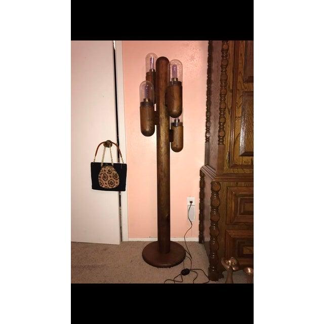 Modeline Co. Pine Wood Cactus Floor Lamp | Chairish